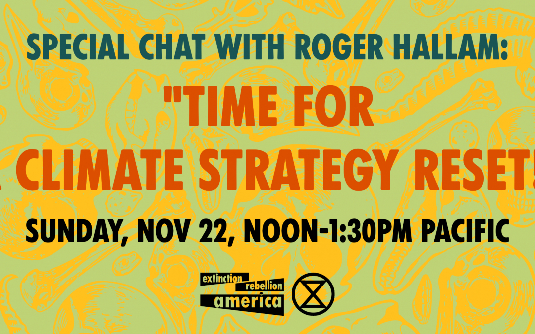 """Special Call with Roger Hallam: """"Time for a Climate Strategy Reset!"""""""