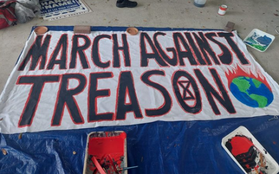 Preparing for Nick's March Against Treason