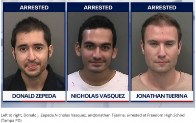 Trio arrested after trying to hand out climate change pamphlets at Tampa high school